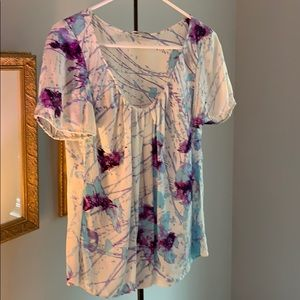 ELIE TAHARA Silk  S/S Blouse size M